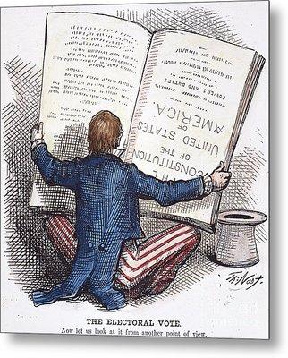 Election Cartoon, 1876 Metal Print by Granger