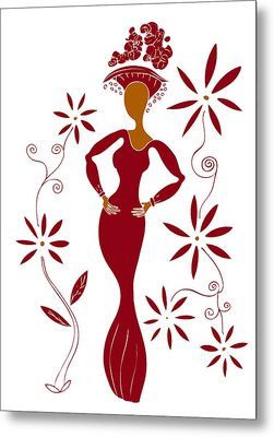 Fashion Illustration Metal Print by Frank Tschakert