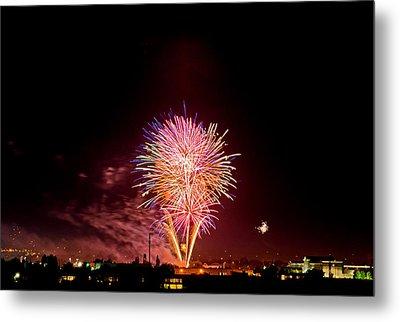 Fireworks Metal Print by Elijah Weber