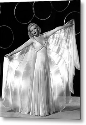 Ginger Rogers, In A Publicity Portrait Metal Print by Everett