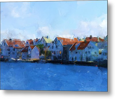 Haugesund Harbour Metal Print by Michael Greenaway
