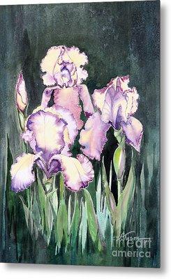 Iris Metal Print by Diana  Tyson
