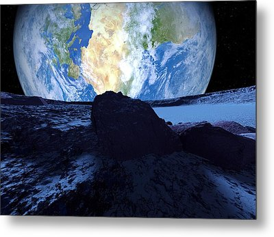 Near-earth Asteroid, Artwork Metal Print by Detlev Van Ravenswaay