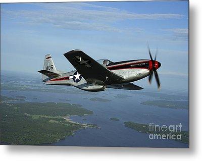 North American P-51 Cavalier Mustang Metal Print by Daniel Karlsson
