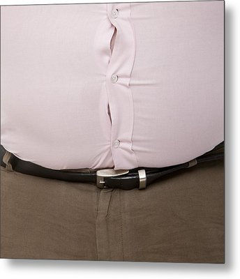 Overweight Man Metal Print by