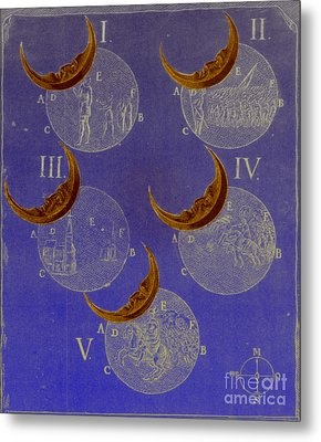 Phases Of An Eclipse Metal Print by Science Source