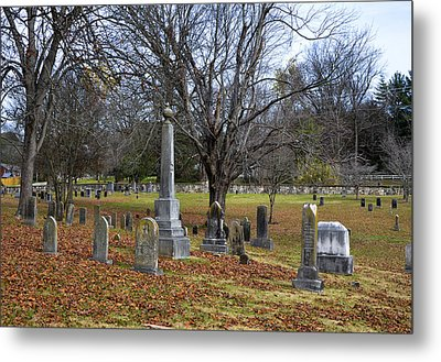 Pleasant Forest Cemetery Metal Print by Paul Mashburn