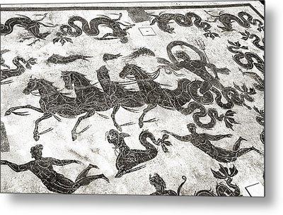 Roman Mosaic, Ostia Antica Metal Print by Sheila Terry