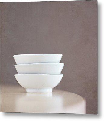 3 Stacked Bowls Metal Print by Pamela N. Martin