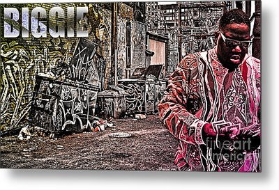 Street Phenomenon Biggie Metal Print by The DigArtisT