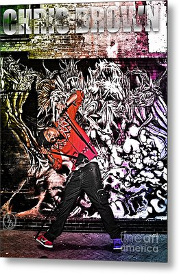 Street Phenomenon Chris Brown Metal Print by The DigArtisT