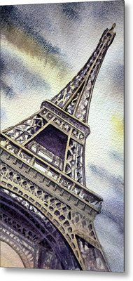 The Eiffel Tower  Metal Print by Irina Sztukowski