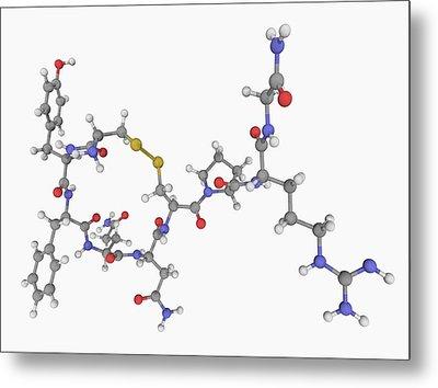 Vasopressin Hormone Molecule Metal Print by Laguna Design