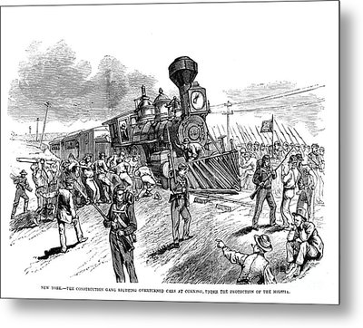 Great Railroad Strike, 1877 Metal Print by Granger