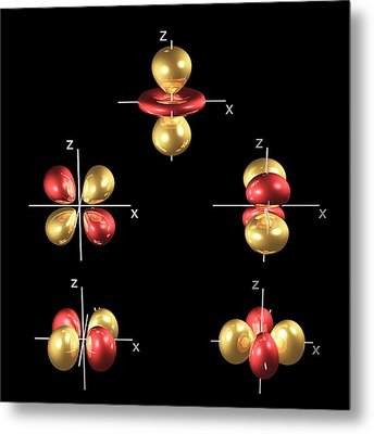 3d Electron Orbitals Metal Print by Dr Mark J. Winter