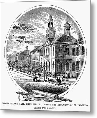 Philadelphia State House Metal Print by Granger