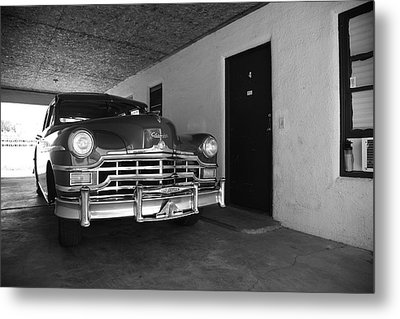 Route 66 Classic Car Metal Print by Frank Romeo