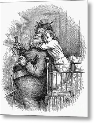Thomas Nast: Santa Claus Metal Print by Granger
