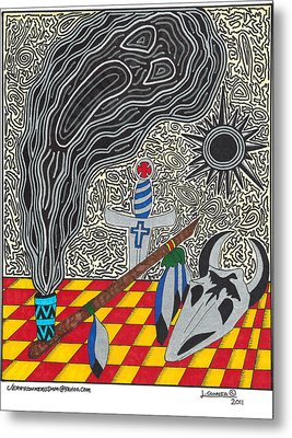 Native American Art Metal Print by Jerry Conner
