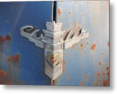 48 Chrysler Hood Emblem Metal Print by Gordon H Rohrbaugh Jr