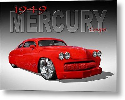 49 Mercury Coupe Metal Print by Mike McGlothlen