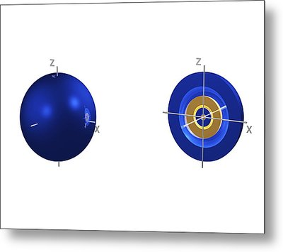 4s Electron Orbital Metal Print by Dr Mark J. Winter