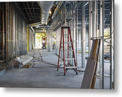 A Commercial Building Metal Print by Don Mason