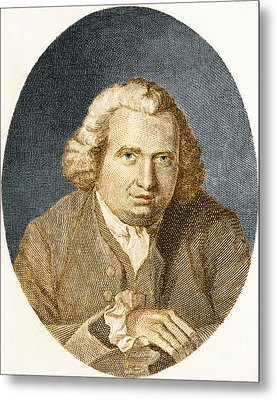 Erasmus Darwin, English Polymath Metal Print by Science Source