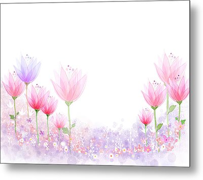 Peaceful Flower Metal Print by Eastnine Inc.