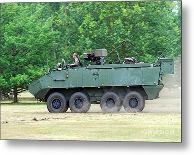 The Piranha IIic Of The Belgian Army Metal Print by Luc De Jaeger