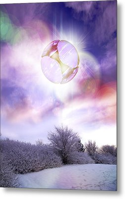 Ufo, Artwork Metal Print by Victor Habbick Visions