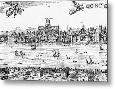 Visscher: London, 1616 Metal Print by Granger