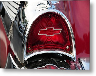 57 Chevy Tail Light Metal Print by Paul Ward