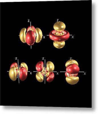 5d Electron Orbitals Metal Print by Dr Mark J. Winter