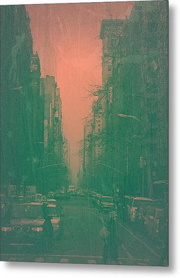 5th Avenue Metal Print by Naxart Studio
