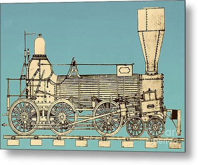 19th Century Locomotive Metal Print by Omikron