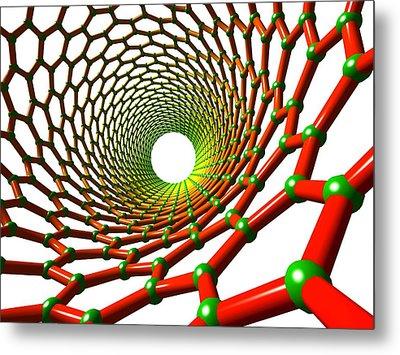 Carbon Nanotube Metal Print by Pasieka