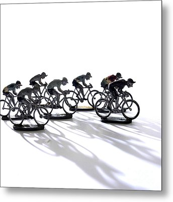 Cyclists Metal Print by Bernard Jaubert