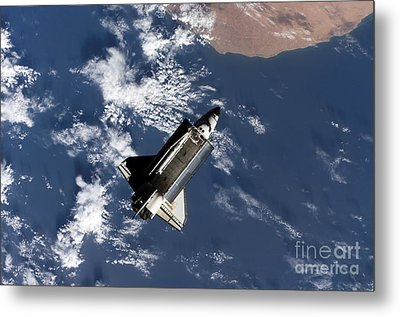 Space Shuttle Atlantis Metal Print by Stocktrek Images