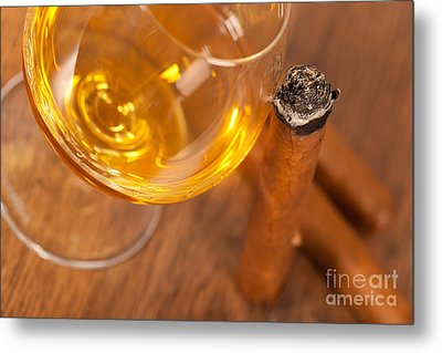 Whisky And Cigars Metal Print by Sabino Parente