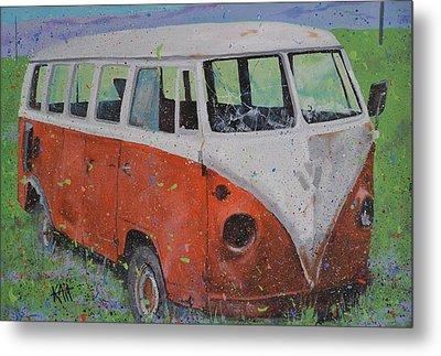 63 Vw Type 2  Bus Metal Print by Les Katt