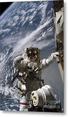 Astronaut Participates Metal Print by Stocktrek Images