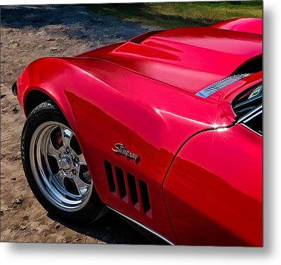69 Red Detail Metal Print by Douglas Pittman