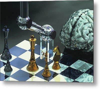 Artificial Intelligence Metal Print by Laguna Design