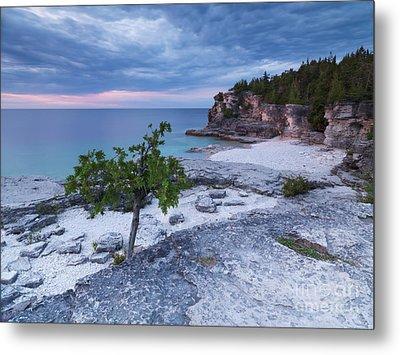 Georgian Bay Cliffs At Sunset Metal Print by Oleksiy Maksymenko