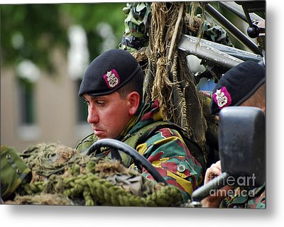 Members Of A Recce Or Scout Team Metal Print by Luc De Jaeger
