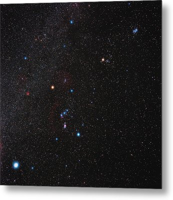 Orion Constellation Metal Print by Eckhard Slawik