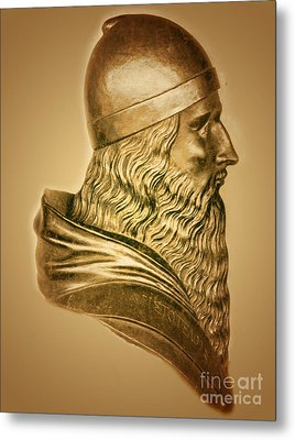 Aristotle, Ancient Greek Philosopher Metal Print by Science Source