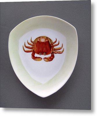 866 3 Part Of Crab Set 1 Metal Print by Wilma Manhardt