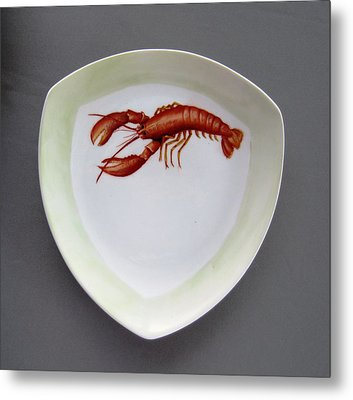 866 5 Part Of The Crab Set  866 Metal Print by Wilma Manhardt